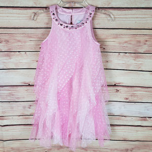 Tahari Girls Pink Sleeveless Tulle Dress Size 6X